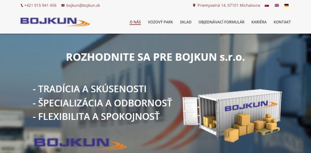 webstránka bojkun