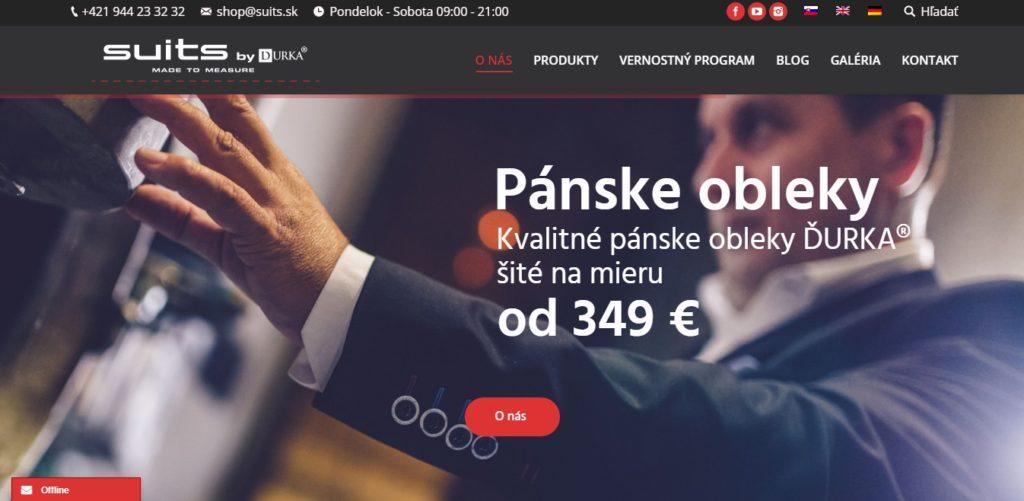 webstránka suits.sk