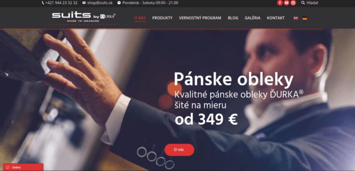 nová firemná webstránka suits.sk