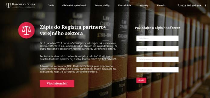 nový web pre advokáta