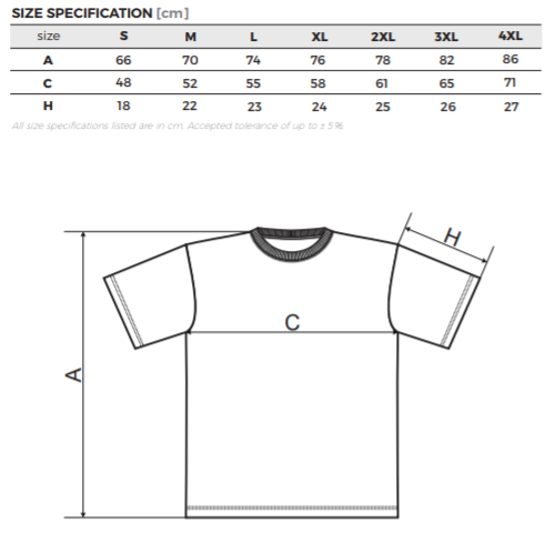 rozmery trička contentpress