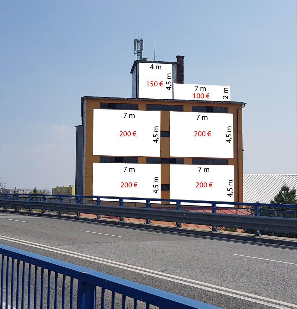 lukratívne reklamné plochy v Michalovciach