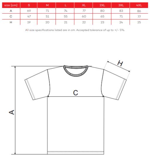 tričko RIMECK veľkosti