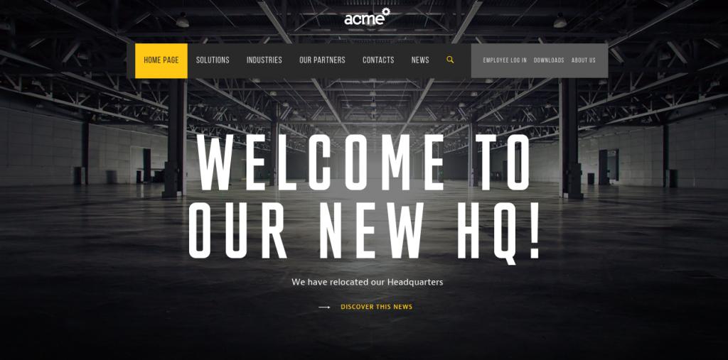 ACME firemná web stránka