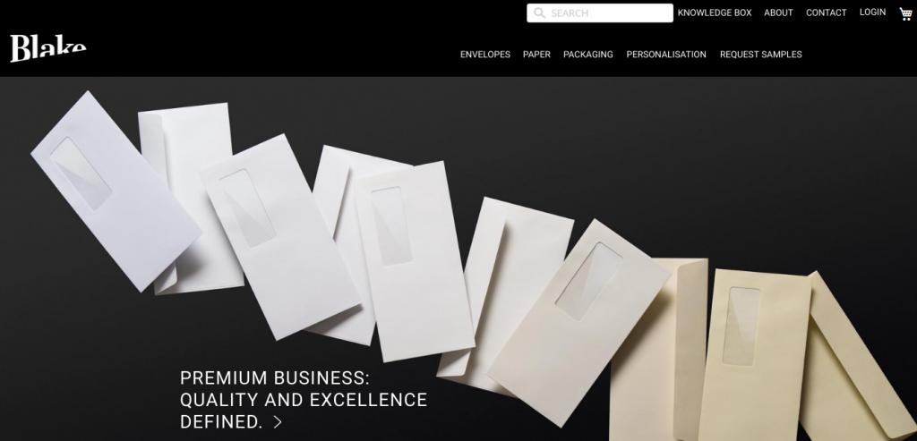 Blake Envelopes B2B webstránka