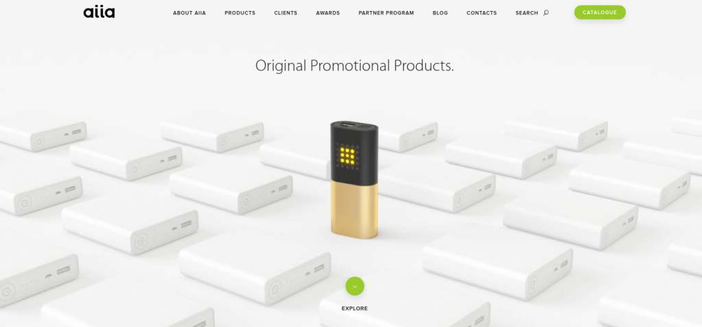 Aiia firemná webstránka B2B