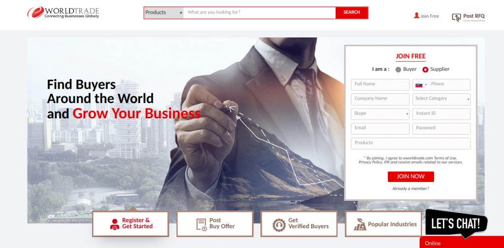 world trade b2b web stránky