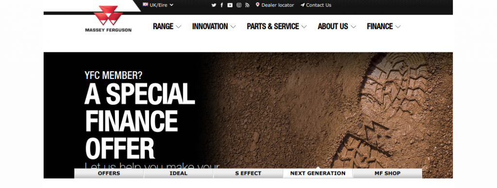 MasseyFerguson web stránka