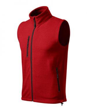 fleecová červená vesta unisex
