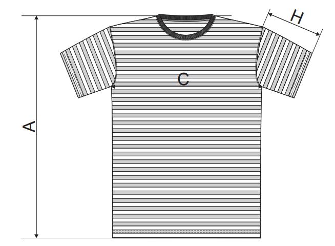 veľkosti trička Sailor